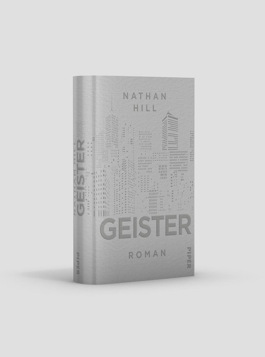 Nathan Hill * Geister * Piper Verlag * Buchcovergestaltung ZeroMedia, München